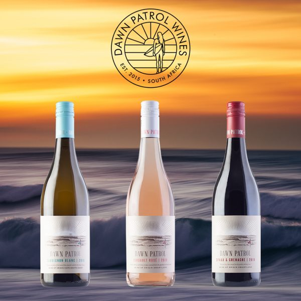 Dawn Patrol Wines is a sustainable lifestyle wine brand by Trizanne Barnard who donates a percentage of its profit to Ocean Pledge.