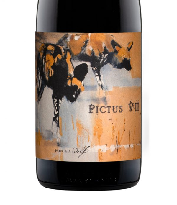 Good Wine Shop Painted Wolf Pictus VII Label